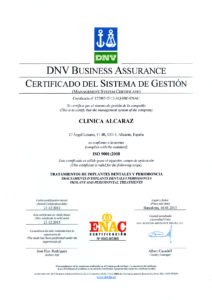 ISO Clínica Alcaraz