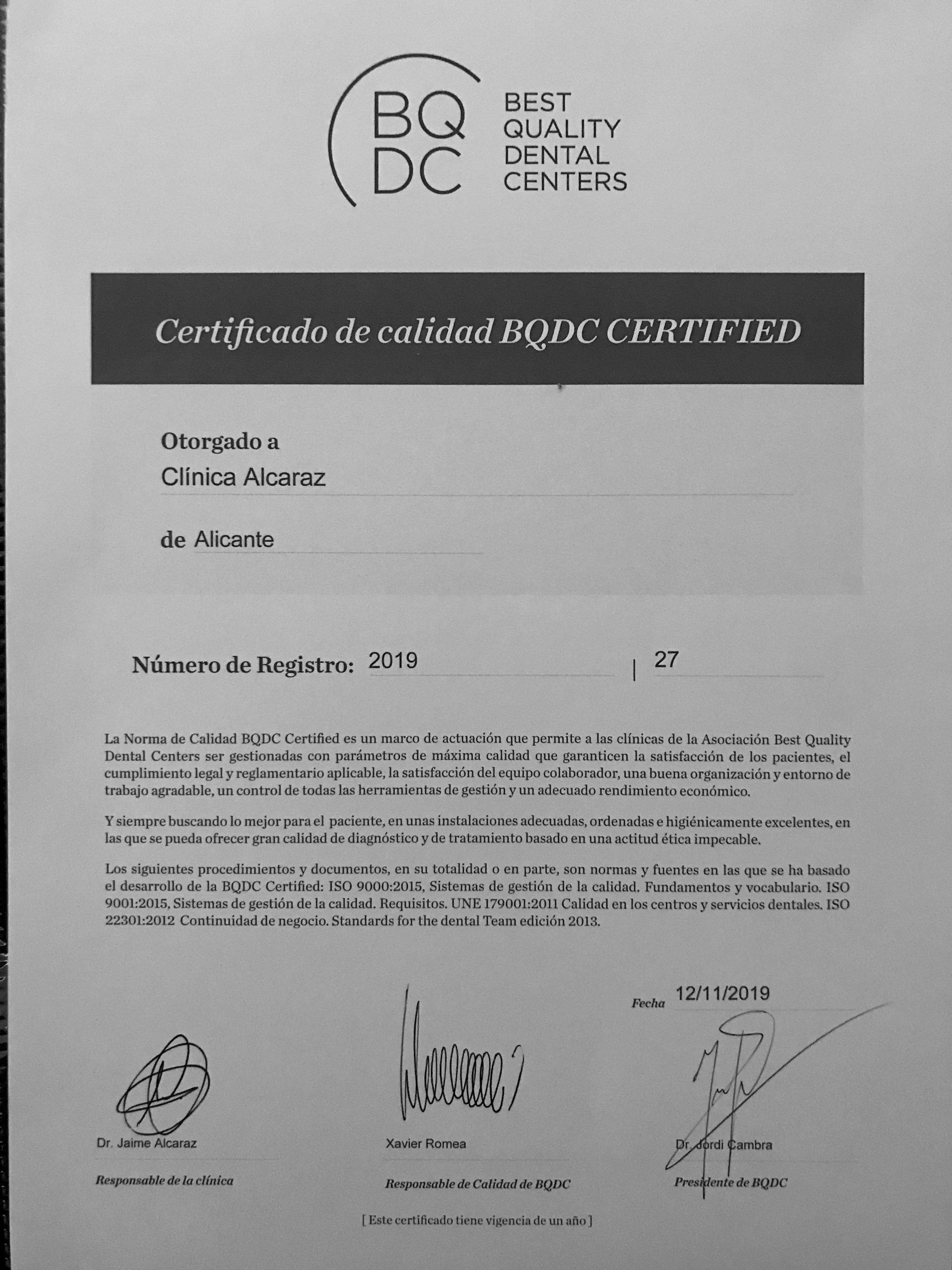bqdc certified