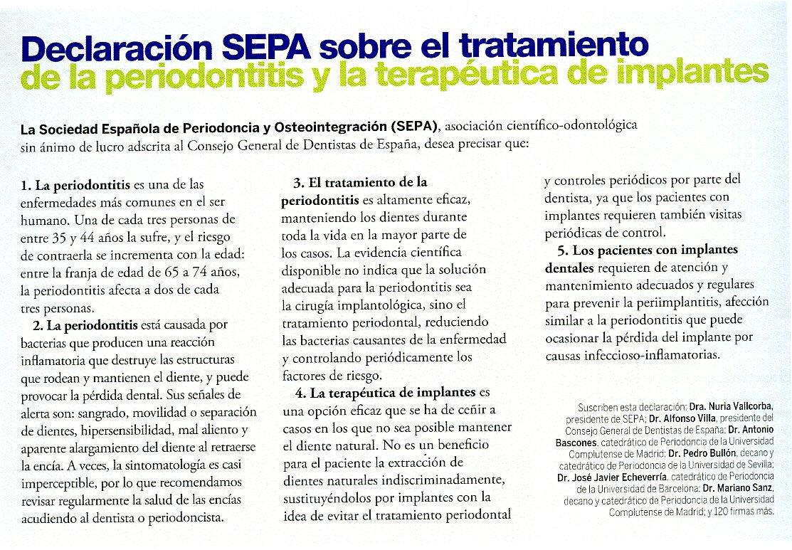 """El número 2 de la revista """" Cuida tus encías """" de la SEPA"""